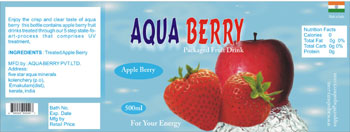 water bottle label designer chennai